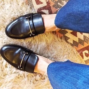 A New Day Remmy Black Backless Loafers